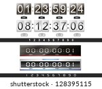 4 digital countdown timer in... | Shutterstock .eps vector #128395115
