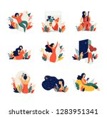 feminine concept illustration ... | Shutterstock .eps vector #1283951341