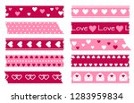 adhesive types with hearts.... | Shutterstock .eps vector #1283959834