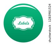 nice label icon. simple...   Shutterstock .eps vector #1283981524