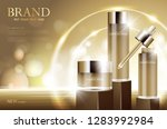 cosmetic product poster  bottle ... | Shutterstock .eps vector #1283992984