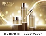 cosmetic product poster  bottle ... | Shutterstock .eps vector #1283992987