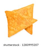 Corn Chips On White Background