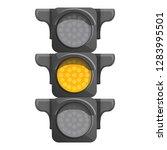 crossroad semaphore yellow... | Shutterstock .eps vector #1283995501