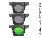 crossroad semaphore green light ... | Shutterstock .eps vector #1283995504