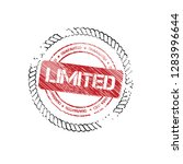 rubber stamp with word limited...