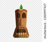 wood totem idol icon. cartoon... | Shutterstock .eps vector #1283997427