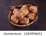 homemade hamburger buns   Shutterstock . vector #1283998651