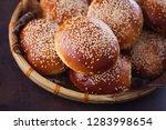 homemade hamburger buns   Shutterstock . vector #1283998654