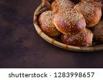 homemade hamburger buns   Shutterstock . vector #1283998657