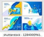 set landing page template... | Shutterstock .eps vector #1284000961