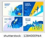 set landing page template... | Shutterstock .eps vector #1284000964