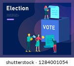 voting and election concept.... | Shutterstock .eps vector #1284001054