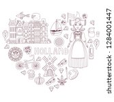 holland netherlands doodle...   Shutterstock .eps vector #1284001447