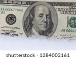 close up of one hundred dollars ... | Shutterstock . vector #1284002161