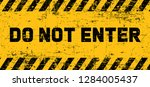 stop signs do not enter danger... | Shutterstock .eps vector #1284005437