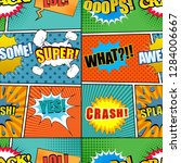 comic book colorful seamless... | Shutterstock .eps vector #1284006667