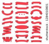 ribbon banner set | Shutterstock . vector #1284010801