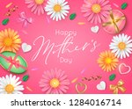 happy mathers day greeting cart.... | Shutterstock .eps vector #1284016714