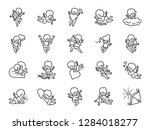 cupid line icon set. included... | Shutterstock .eps vector #1284018277