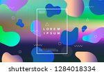 colorful minimalistic geometric ... | Shutterstock .eps vector #1284018334