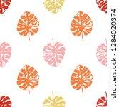 vector beach seamless pattern... | Shutterstock .eps vector #1284020374