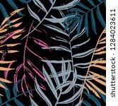 vector beach seamless pattern... | Shutterstock .eps vector #1284023611