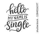 hello  my name is single. funny ... | Shutterstock .eps vector #1284026197