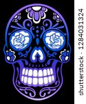 traditional sugar skull  from... | Shutterstock . vector #1284031324
