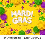 mardi gras carnival background... | Shutterstock .eps vector #1284034921