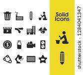 build icons set with belt  art... | Shutterstock .eps vector #1284041347