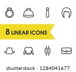 wear icons set with hair ...