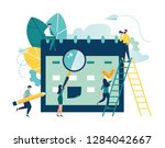 vector illustration. little... | Shutterstock .eps vector #1284042667