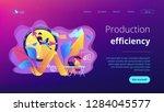 businessman working on clock... | Shutterstock .eps vector #1284045577
