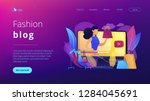 fashion blogger review video...   Shutterstock .eps vector #1284045691