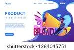 marketers with megaphone...   Shutterstock .eps vector #1284045751