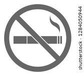 no smoking sign. vector. | Shutterstock .eps vector #1284050944