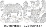 coloring pages. coloring book... | Shutterstock .eps vector #1284054667