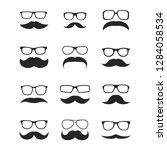 set of mustaches | Shutterstock . vector #1284058534