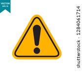 warning icon in trendy flat... | Shutterstock .eps vector #1284061714