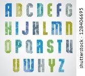 halftone print dots textured...   Shutterstock .eps vector #128406695