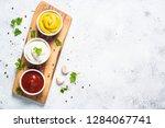 set of sauces   ketchup ... | Shutterstock . vector #1284067741