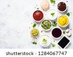set of sauces   ketchup ...   Shutterstock . vector #1284067747