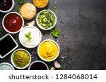 set of sauces   ketchup ... | Shutterstock . vector #1284068014