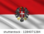 flag of vienna is the federal... | Shutterstock . vector #1284071284