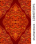 oriental abstract ornament.... | Shutterstock .eps vector #1284072091