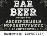 classic vintage 3d font...   Shutterstock .eps vector #1284073837