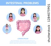 infographic with intestine... | Shutterstock .eps vector #1284075901