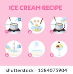 how to make ice cream at home... | Shutterstock .eps vector #1284075904