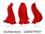hero cape. red superhero cloak...   Shutterstock .eps vector #1284079447